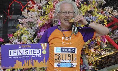 afbeelding van Piet Boelens, een ambassadeur van Run for KiKa Marathon.