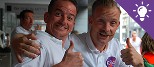 Afbeelding van twee ervaren KiKa runners die voor jou de beste tips hebben om geld op te halen voor KiKa met statiegeldzuilen