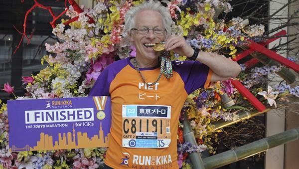 Ambassadeur, inzetten voor goed doel, KiKa, Run for KiKa Marathon, Piet Boelens, Friesland, Groningen, gefinisht, sponsoracties