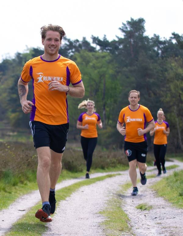 hardloper Veluwe marathon voor KiKa