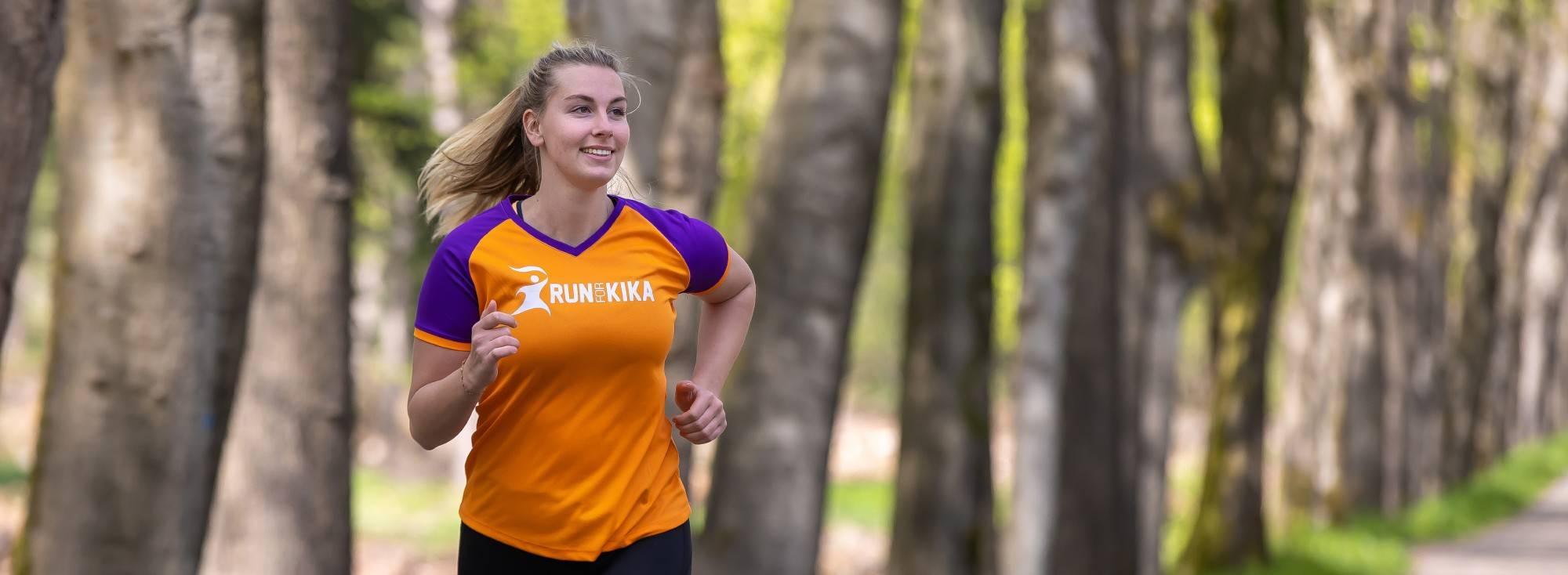 Run for KiKa Marathon loper op de Veluwe